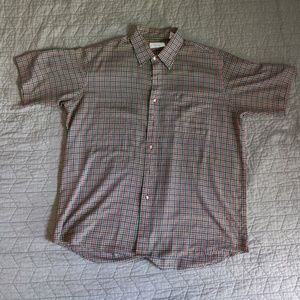 Sears Store Shortsleeve Button-Up (L, Plaid)